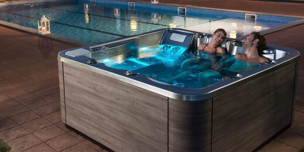 New hot tub cabinet finish - Aquavia Spa